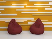 3D a rendu l'intérieur Images libres de droits