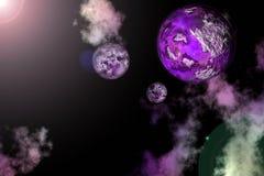 3D a rendu l'univers de nébuleuse Photos libres de droits