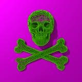3d a rendu la basse poly illustration de crâne Photos stock