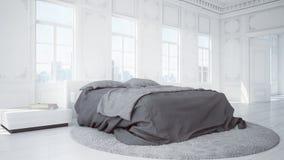 3D a rendu la chambre à coucher illustration de vecteur