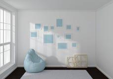 3d a rendu la composition intérieure Image stock
