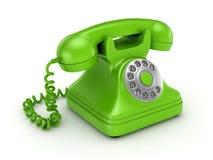 3d a rendu le rétro téléphone Image stock