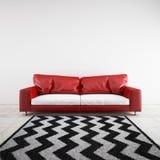 3D a rendu le sofa dans une chambre illustration de vecteur