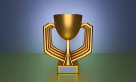 3d a rendu le trophée Photo stock