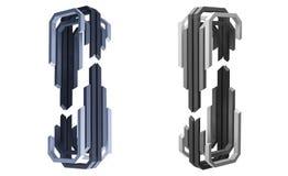 3d rendu, logo abstrait de bâtiment, vue de perspective illustration stock