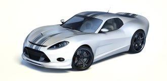 3D rendu - voiture générique de concept Photo libre de droits