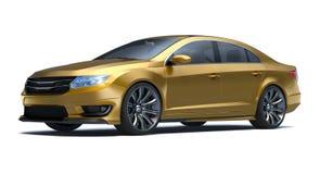 3D rendu - voiture générique de concept Photos libres de droits