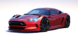 3D rendu - voiture générique de concept Photo stock