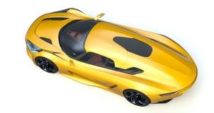 3D rendu - voiture générique de concept Images libres de droits