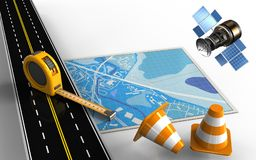 3d repair cones Stock Image
