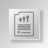 3D Report Page icon Business Concept. 3D Symbol Gray Square Report Page icon Business Concept Stock Images