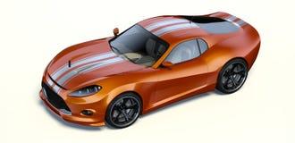 3D representación - coche genérico del concepto foto de archivo