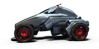 3D representación - coche genérico del concepto fotos de archivo