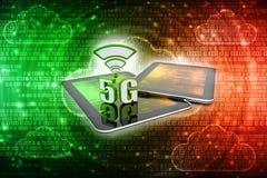 3d representación, 5G red, concepto de la conexión 5G Foto de archivo libre de regalías