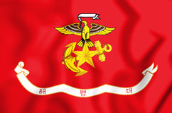 3D Republik Korea Marine Corps Flag Stockfotos