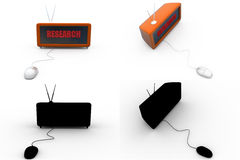 3d research concept collections with alpha and shadow channel Royalty Free Stock Photography