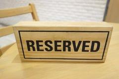 3D reservado de madeira Fotos de Stock Royalty Free