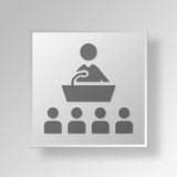 3D responsabile Button Icon Concept Fotografie Stock
