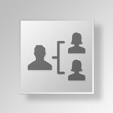 3D responsabile Button Icon Concept Fotografia Stock