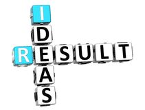 3D Result Ideas Crossword cube words. On white background Stock Photography