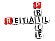 3D Retail Price Crossword on white background Royalty Free Stock Photos