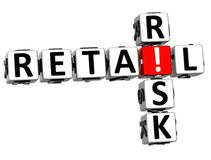 3D Retail Risk Crossword. On white background Stock Photos
