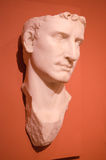100 A d retrato da escultura do primeiro imperador de Augustus de Roma Imagem de Stock