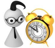 3d retro alarm clock Stock Images