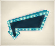 3D Retro Arrow. Vintage banner, eps 10 Royalty Free Stock Photo