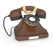 3d Retro phone. Stock Image