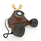 3d Retro phone. Royalty Free Stock Photo