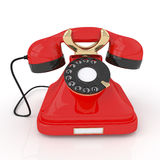 3d Retro phone. Stock Photo