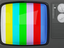 3d retro tv -colorful no signal background Stock Photography