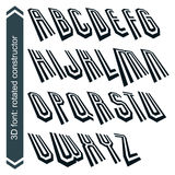 3d retro typeset with lines in rotation, vector Stock Photography