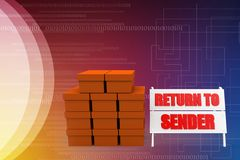 3d return to the sender illustration Stock Photography