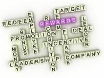 3d Rewards. Business concept illustration Stock Images