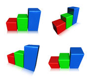 3D RGB graph icon. 3D Icon Design Series. Stock Photo