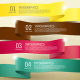 3d ribbon infographic elements. 3d modern vector abstract ribbon infographic elements Stock Photos