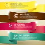3d ribbon infographic elements Stock Photos