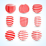 3d ribbons set for your designs, presentations and. Promotions vector Stock Images