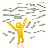 3D ricchi, dollari di concetto illustrazione di stock