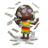 3d Rich rasta Stock Photo