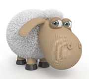 3d ridiculous sheep. Royalty Free Stock Photo
