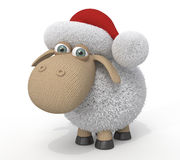 3d ridiculous sheep Royalty Free Stock Images