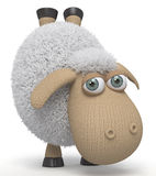 3d ridiculous sheep Royalty Free Stock Photo