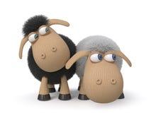 3d ridiculous sheep Royalty Free Stock Photos