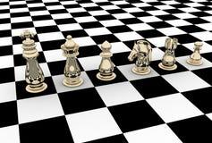 3d rinden de ajedrez stock de ilustración