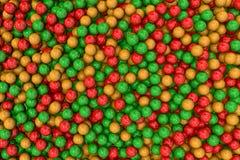3d rinden de bolas coloridas fijado Imágenes de archivo libres de regalías