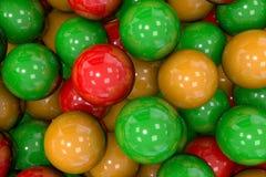 3d rinden de bolas coloridas fijado Fotografía de archivo libre de regalías