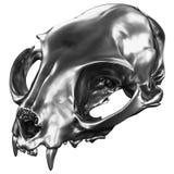 3D rinden de Cat Skull metálica Imagen de archivo
